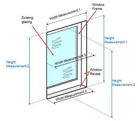 How to measure for sliding aluminium secondary glazing